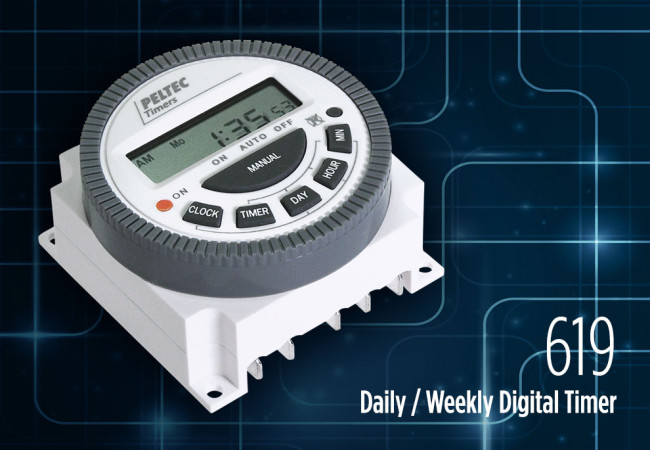 Control your world with Peltec 619 Daily / Weekly Digital Timer