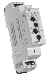 Peltec 102 DIN rail timer special effects control