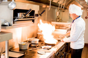 Chef With High Burning Flames, restaurant HVAC, Peltec timer