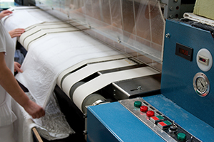 Flatwork ironer light curtain