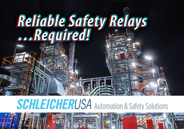 SchleicherUSA safety relays for reliable performance in various applications to protect people, equipment and systems.