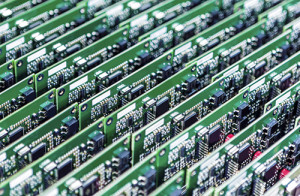 Rows of PCBs