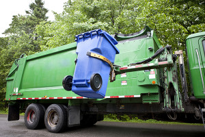 Trash compactor and recycling truck