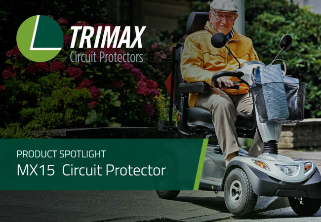 Product Spotlight: MX15 Series Manual Reset Circuit Protector