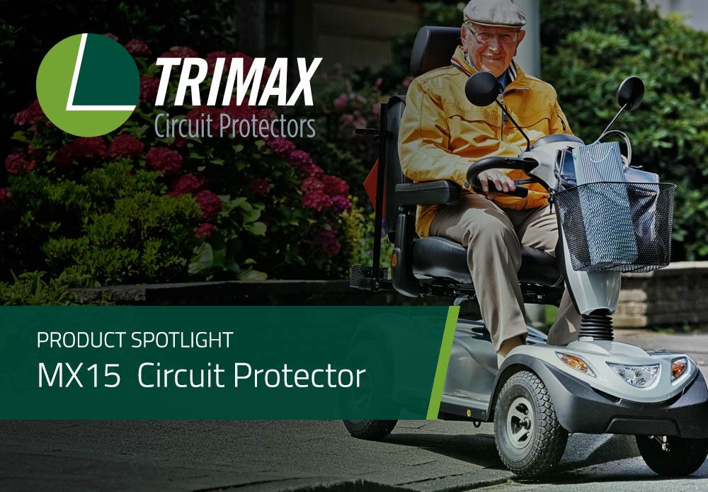 Product Spotlight: MX15 Series Manual Reset Circuit Protector