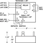 Wiring and dimensions of  Single Shot Timer-TGPL